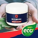 Crème pour les mains pour Travaux intensifs - Mains Puissantes de Bulwark, crème 100% Naturelle Barrière de Sécurité pour Hommes, au Beurre de Karité, à la Vitamine E et à l'huile de Chanvre