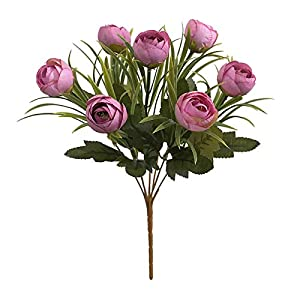Silk Flower Arrangements Artificial Flowers,Fake Plants Faux Plastic Fake Plants Wedding,1Pc Artificial Camellia Fake Flower Home Office Ornament Wedding Party Decor - Rose Red