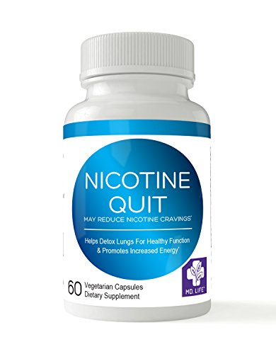Save $$ Md.life Nicotine Quit, 60 Caps. Compare To The Kerry Gaynor Method Vital Lung Detox - Plant-Based Herbal Formula To Cleanse Body From Harmful Effects Of Years Of Smoking - 60 Capsules/Bottle