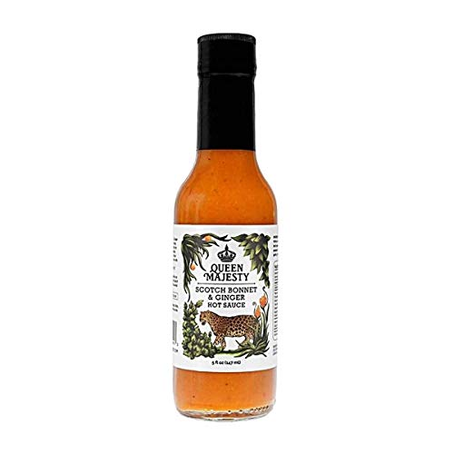 QUEEN MAJESTY HOT SAUCE Hot Sauce Scotch Bonnet Ginger 5 FZ