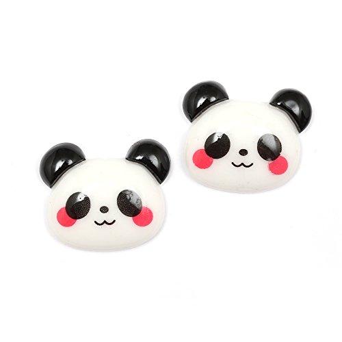 Idin - Orecchini a clip a forma di panda (ca. 17 x 21 mm)