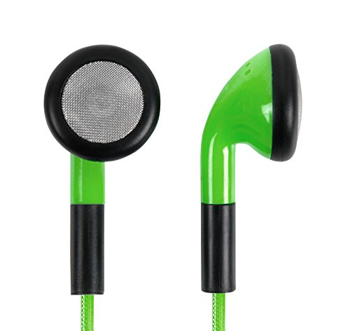DURAGADGET Auriculares In-Ear con Luz LED Verde Compatible con Portátil Lenovo THINKBOOK 15 Gen 2, Lenovo THINKPAD X1 Nano, Lenovo Yoga 530-14IKB- ¡Las Luces Se Mueven Al Ritmo De La Música!