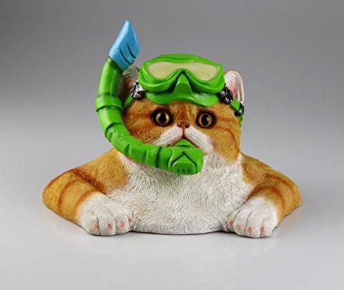 AM-Design figuur kat met duikbril tuinfiguur tuin sculptuur