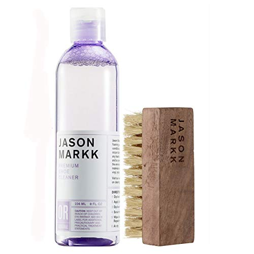 Jason Markk Unisex 8oz Premium Shoe Cleaner + Shoe Brush (Combo)