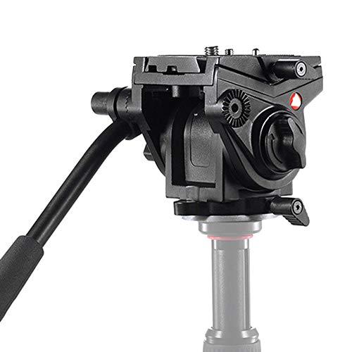 SHENGY fluidkop, statiefkop voor videocamera's, Fluid Drag-Pan-kop, met 1/4 3/8 inch schroeven, glijplaat, voor DSLR-cameracamcorder, belasting tot 5 kg