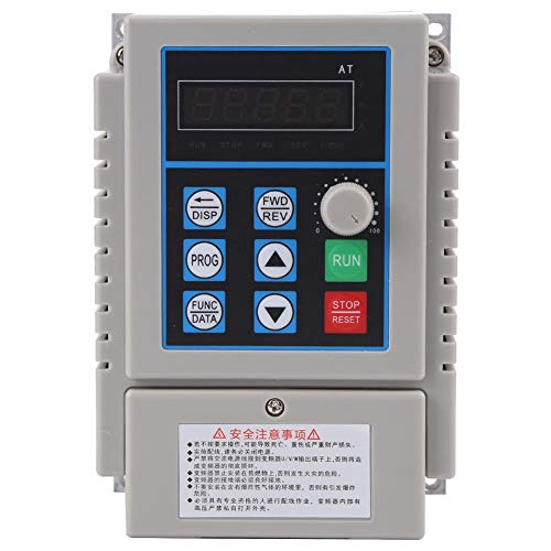 AT1-0750X VFD - Controles de motor eléctrico AC 220V 0.75kW 5A Variador...