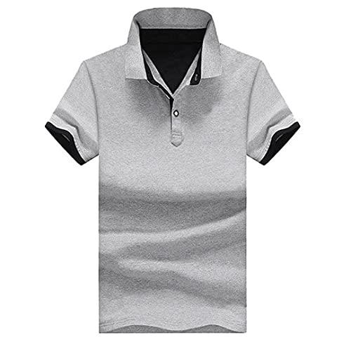Polo de los hombres de algodón de manga corta camisa S ropa camisetas verano stand collar para hombre Polo Tops