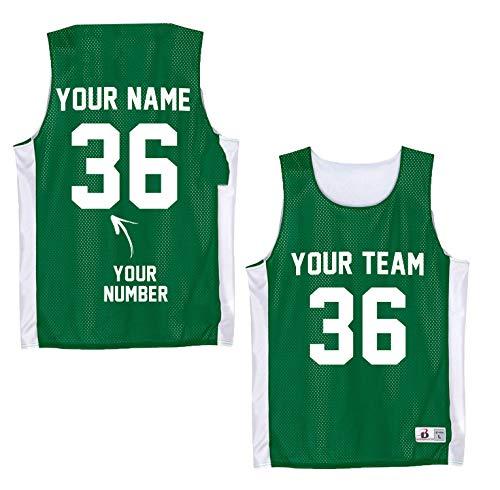 Custom Basketball Uniforms Youth - Green Jersey Shirt - Mesh Tank Top Kids - Green