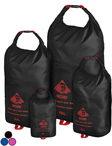 Outdoor Panda Dry Bags (Schwarz, 1 x 15L)