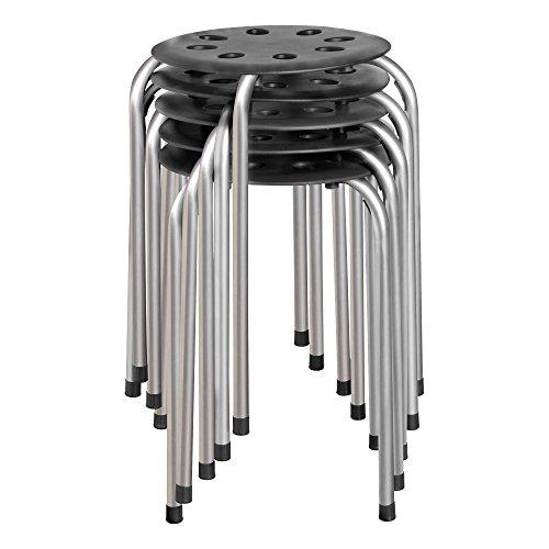 'Norwood Commercial Furniture No de 1101ac de So Taburetes de plástico, 17.75 'Altura, 11.75' de ancho, 11.75 de longitud, surtidos (paquete de 5)
