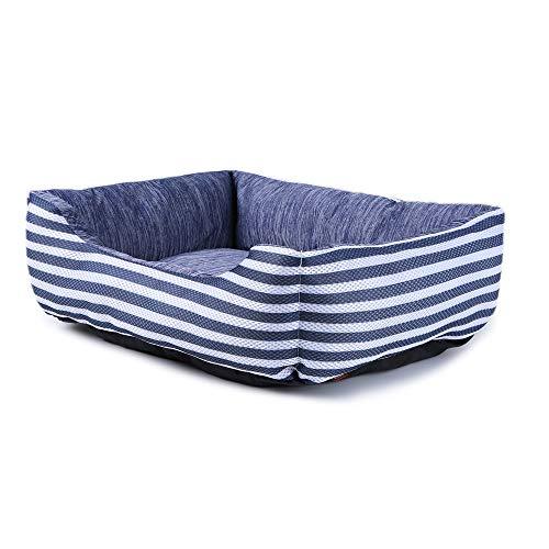 ペットベッドペットソファーペットクッションマット犬猫スクエア型洗える冷感ひんやりメッシュ通気性いいふわふわ夏用LボーダーJEMAジェマ