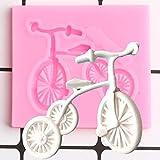 ZPZZPY Molde De Silicona para Bicicleta, Moldes De Chocolate con Fondant para Hornear Cupcakes,Herramientas De Decoración De Pasteles De CumpleañosDIY,Molde De Arcilla Polimérica para Dulces
