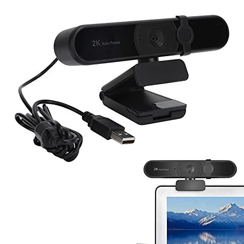 T opiky Webcam HD 1080p Web Camera, USB PC Computer 4MP 2K Webcam con micrófono, cámara Web de Video Full HD de Escritorio para computadora portátil para transmisión para grabación, llamad