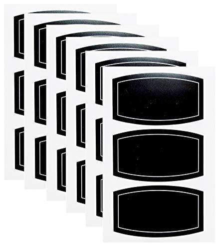 Reusable Waterproof Chalkboard Labels Blackboard Mason Jar Stickers Blackboard Stickers for The Kitchen, Pantry, Mason Jars, Wine Glasses (60pcs 3.52')