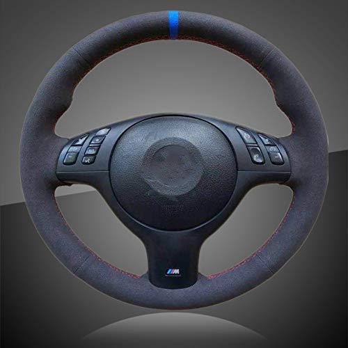 JIRENSHU Trenza automática en la Cubierta del Volante Cubierta del Volante del automóvil, para BMW E46 E39 330i 540i 525i 530i 330Ci M3 2001-2003