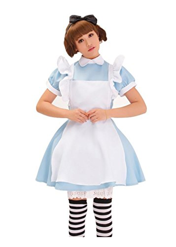 Minetom Nouvelle Alice in Wonderland Cosplay Costume Fancy Lolita Pucelle Robe Tablier Déguisement Bleu