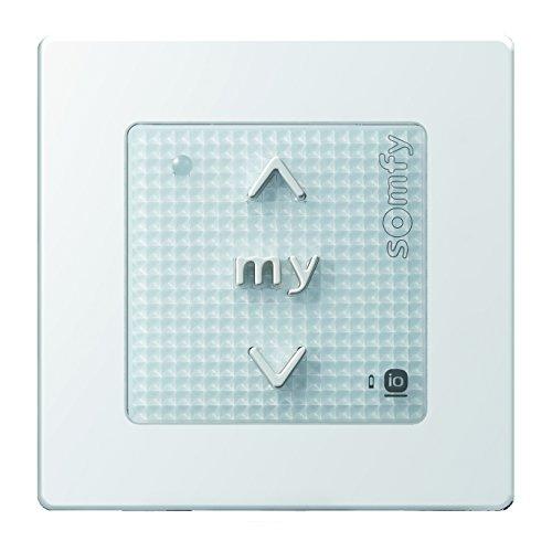 Somfy® Smart Home Funkwandsender smoove origin io pure inkl. Rahmen in verschiedenen Farben. (Smoove Origin io Pure Rahmen)