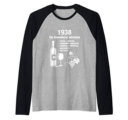 Geburtstag Geschenk Wein Vintage - Besonderer Jahrgang 1938 Raglan