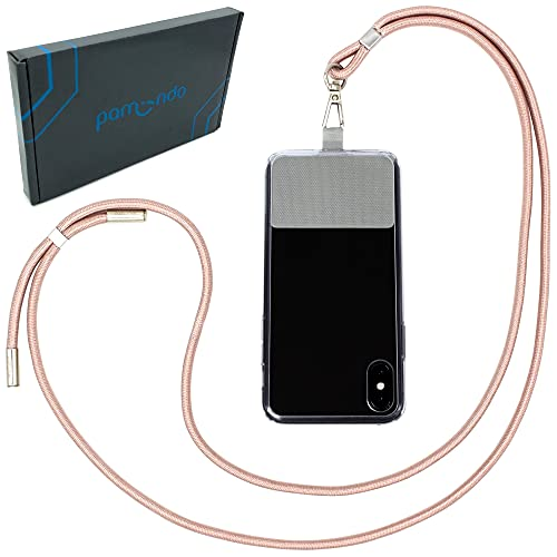 Handykette universal zum Umhängen von Smartphones - Halsband als Umhängetasche für Handys wie iPhone, Samsung, Huawei UVM. (rosa)
