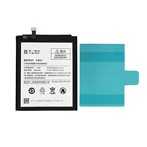 [TY BETTERY] Bateria Compatible con BN31 Xiaomi Mi A1/ 5X/ Note 5A/ Redmi S2