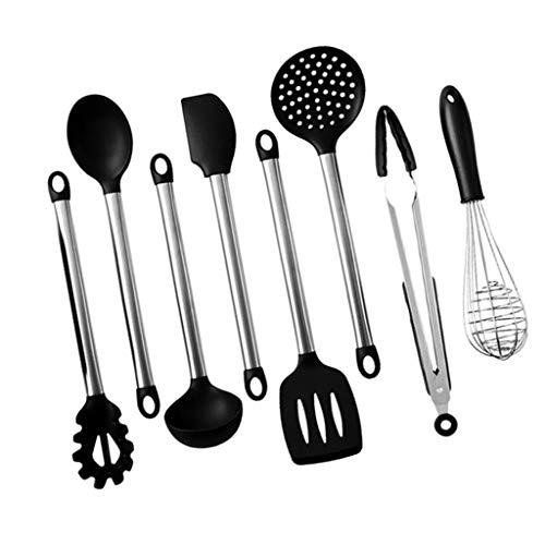 gazechimp Utensilios de Cocina de 8 Piezas, Utensilios de Cocina de Silicona, Utensilios de Cocina, Espátula