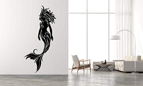 Mermaid Water Nymph Siren Nautical Decal Mythology Seamaiden Aquatic Ocean Sea Wall Art Vinyl Decal Sticker Room Decor TK1207