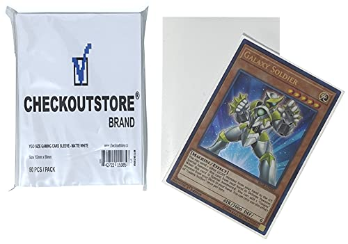 CheckOutStore 10,000 Matte White Protective Sleeves Yu-Gi-Oh, Cardfight Vanguard (62 x 89 mm)