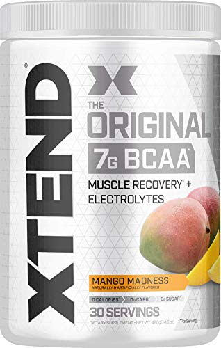 XTEND Original BCAA Powder Mango Madness | Sugar Free Post Workout Muscle Recovery Drink with Amino Acids | 7g BCAAs for Men & Women| 30 Servings