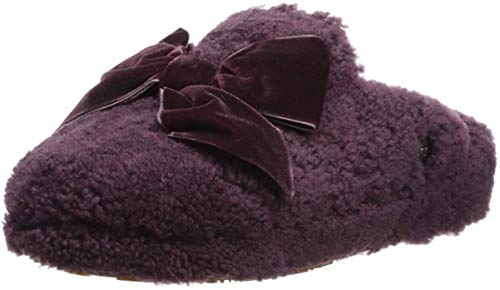 UGG Women's W Addison Velvet Bow Slipper, port 12 M US