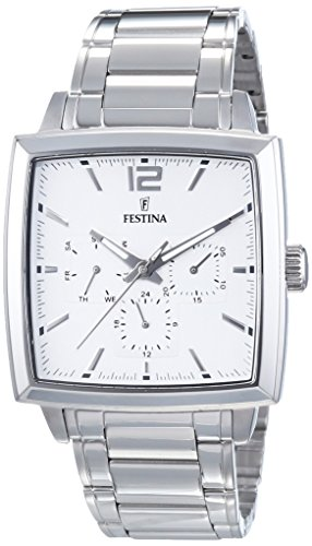 Festina F16783/1 - Reloj de Pulsera Hombre, Acero Inoxidable, Color Plateado