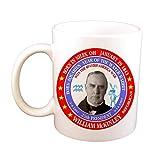 N\A Taza de café Taza de café con Conejo de Agua Nacido en Acuario, astrología del Zodiaco del 25o Presidente de los EE. UU. De William Mckinley