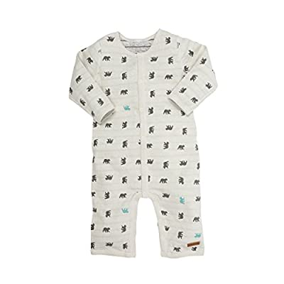Robeez Baby Coverall, Grey/Blue, 9 Months