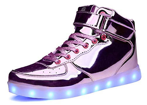 MOHEM ShinyNight High Top LED Shoes Light Up Shoes USB...