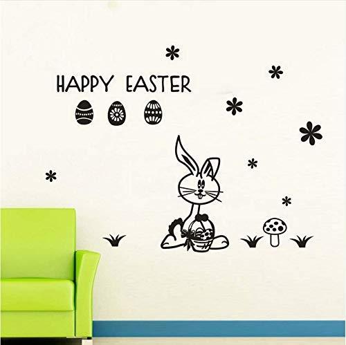 Easter Rabbit 3D Diy Cartoon Flugzeug Wandaufkleber Für Kinderzimmer Wohnzimmer Home Decor Kunst Poster Kinder Dekoration Wandtattoos New31 * 23Cm