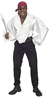 Rubie's Men's White Satin Pirate Shirt