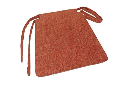 BFK Möbel Stuhl Auflage Sitzkissen Bankkissen Bankauflage Sitzauflage (Terracotta)
