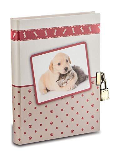 Mareli Diario Segreto cuccioli con Lucchetto in Metallo per bambina