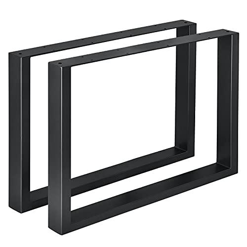 Conjunto de Patas de Mesa Negro Industriales- Set de 2X Patas para Muebles en Forma de 口 Mesa de Comedor Patas del Escritorio Mesa de Conferencias Pata de Banco