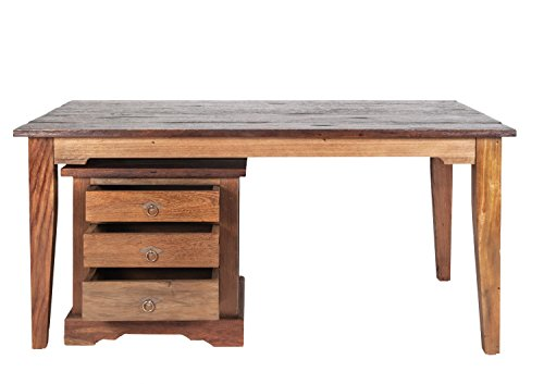 Sit meubels tafel 160 x 90 cm, SEADRIFT, gerecycled teakhout massief, natuur, plaat koloniale kleur,