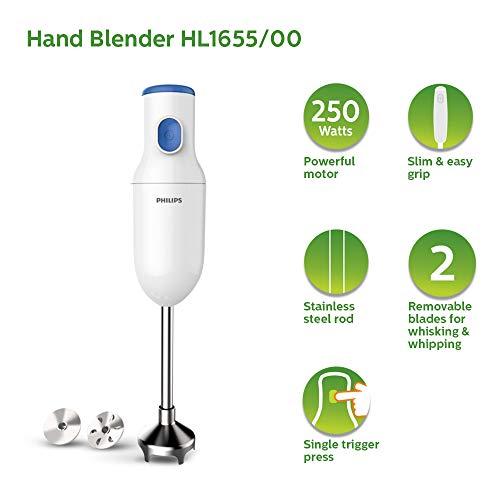 PHILIPS HL1655/00 Hand Blender 250W, White