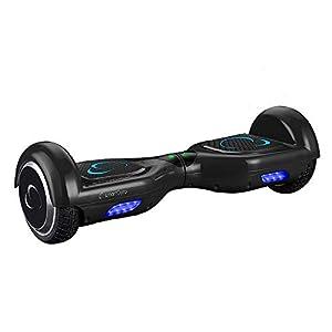 SMARTGYRO X2 Patinete Eléctrico Hoverboard, Antipinchazos, Batería de Litio 4400 mAh, Velocidad Máxima 12 Km/h, Certificado UL, Unisex Niños, Negro, 6.5 Pulgadas