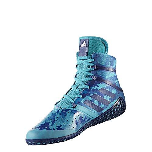 Adidas Impact Wrestling Schuh, Blau - Türkis Camo - Größe: 45 1/3 EU