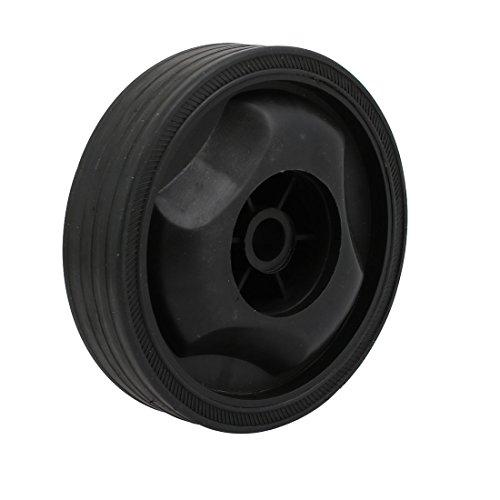 IIVVERR 115mm Diameter Plastic Replacement Parts Wheel Casters Black for Air Compressor (Piezas de repuesto de plástico de 115 mm de diámetro Ruedas negras para compresor de aire