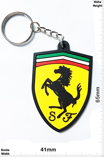 Llaveros - Keychains - Ferrari - Car - sports car - Key Ring - Kautschuk Rrubber Keyring - perfect also bags, wallets or briefcase - Give away