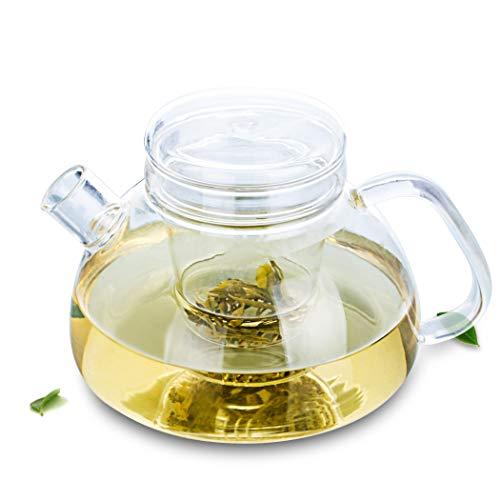 NoBrand Thermo-Resisting glazen theepot met zeef en deksel 1100 ml