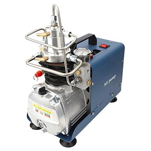 Elektrische Hochdruckluftkompressorpumpe, 4500PSI 300Bar 30MPA Einstellbares Auto-Stop-Hochdrucksystem Gewehr PCP Paintball Tankstelle für Brandbekämpfung und Tauchen(EU)