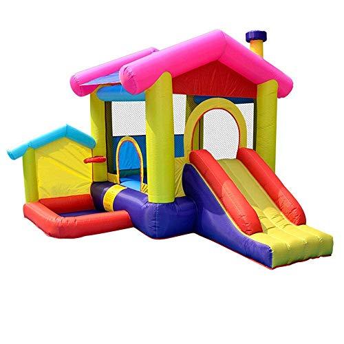 FGVDJ Castillos hinchables Casa de Castillo de Rebote Inflable Casa Hinchable de Fiesta para niños con soplador de Aire Incluido soplador de Diapositivas al Aire libr