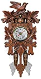 Antique Hanging Cuckoo Clock Wall Clocks, Wooden Cuckoo Birdhouse Pendulum Wall Clock, Hourly Sound Pop-Out Songbird for Room Decor Wall Art Living Room Kitchen Home Decoration C