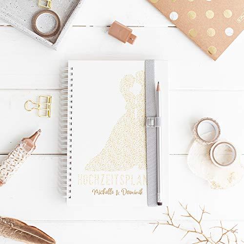 Hochzeitsplaner Deutsch - Wedding Planer - PERSONALISIERT Traumpaar & inkl. Wandkalender in Größe A1