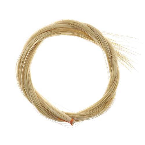 Arco de violín pelo de caballo pelo de caballo color natural sin blanquear 29 pulgadas de longitud para violín viola violonchelo 4/4
